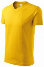 """Tričko V-neck 160 bavlna priekrčník do """"V"""" krátky rukáv žlté"""