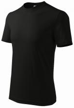 Tričko Heavy 200 bavlna kvalitný bavlnený materiál okrúhly priekrčník čierne