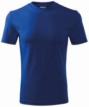 Tričko Heavy 200 bavlna kvalitný bavlnený materiál okrúhly priekrčník stredne modré