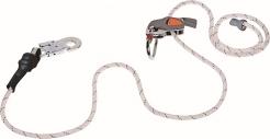 Súprava na prácu vo výške lanová brzda CAMELEON opletené lano 4 m a karabína AM010