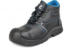 Pracovná členková obuv CERVA RAVEN XT O1 SRC kožená mäkký golier PU/PU ochrana špice čierno/modrá