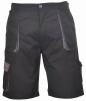 Krátke pracovné nohavice TEXO Contrast čierno/sivé veľkosť XL